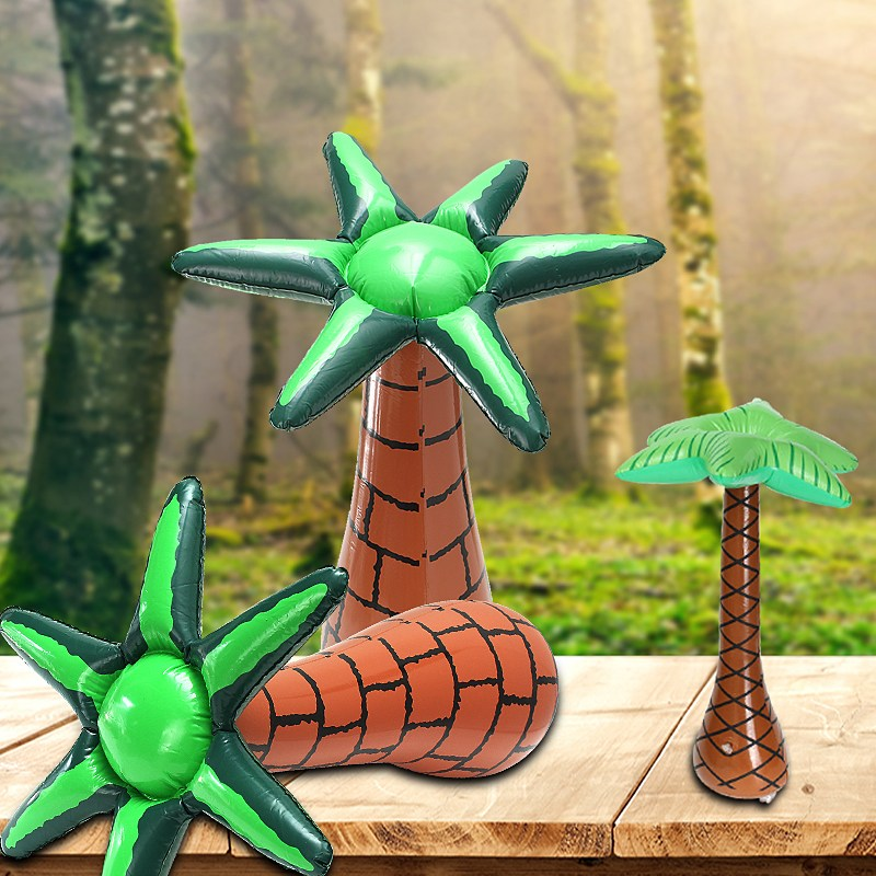 60cm Inflatable Floating Coconut Palms Tree Summer Party Events DIY Decoration Ornaments Swimming Pool Beach Lawn Toy Decor in Inflatable Bouncers from Toys Hobbies