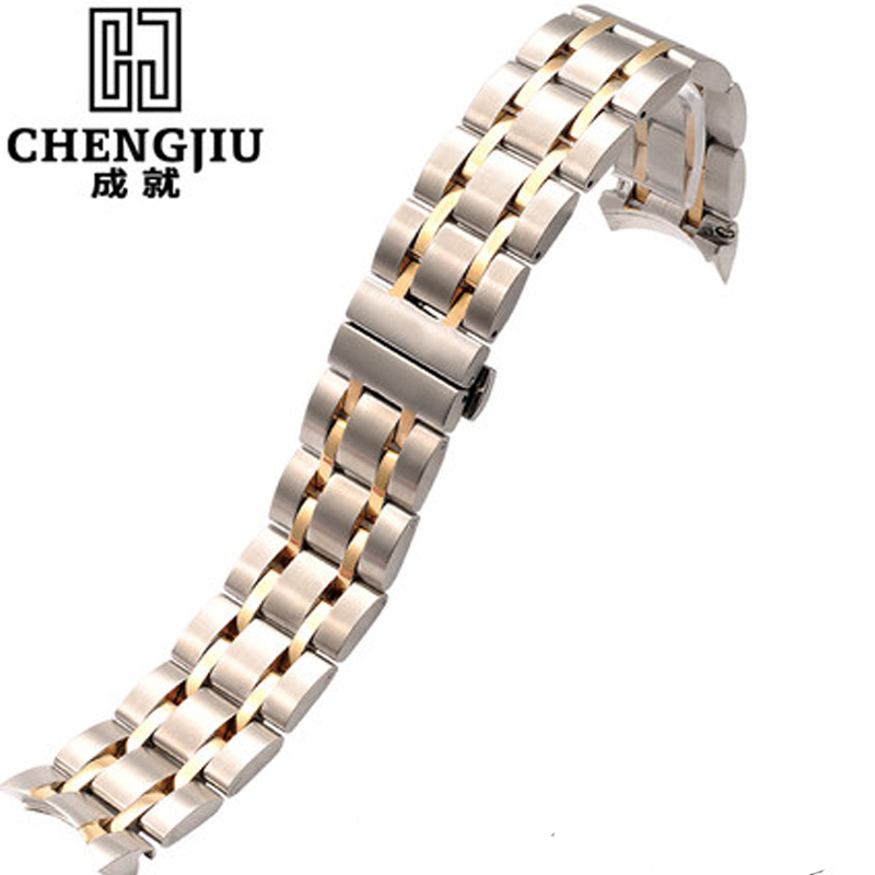 Stainless Steel Watchbands For Tissot 1853 T035627A Men Watches Belt Men Strap Metal Watch Band For Male Masculino Bracelet genuine leather watchbands for tissot mido lv dior for 1853 t050 waterproof men women buckle strap watch strap fits all brand
