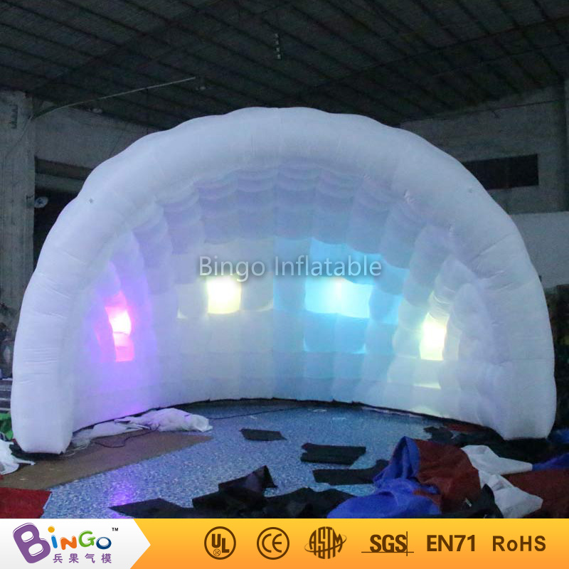 Free shipping Hot Sale White Color Semicircle Inflatable Disco half dome Tent For Toy Tent