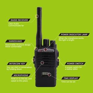 Image 2 - 2Pcs Children Toy Walkie Talkie Portable Radio Electronic Intercom  Kids Interphone Juguete Mini Woki Toki Handle Two Way Radio