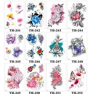 Image 3 - DIY Vücut Sanatı Geçici Dövme Renkli Dreamcatcher Kırlangıç Suluboya Boyama Çizim Çıkartması Su Geçirmez Dövmeler Sticker