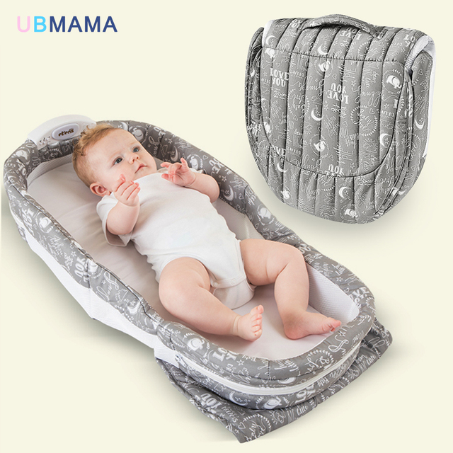 Have music night light portable foldable baby bed mummy packs boy gril travel bed baby newborns crib 90*40*14cm hot sale
