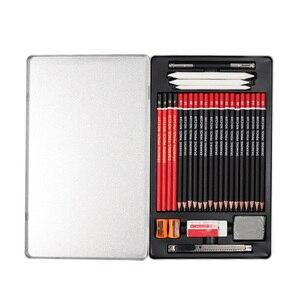 Image 2 - Juego de lápices de dibujo profesional para estudiantes, Kit de 30 Uds de lápices de bocetos 2B 3B 4B 5B 6B 8B HB 2H 3H