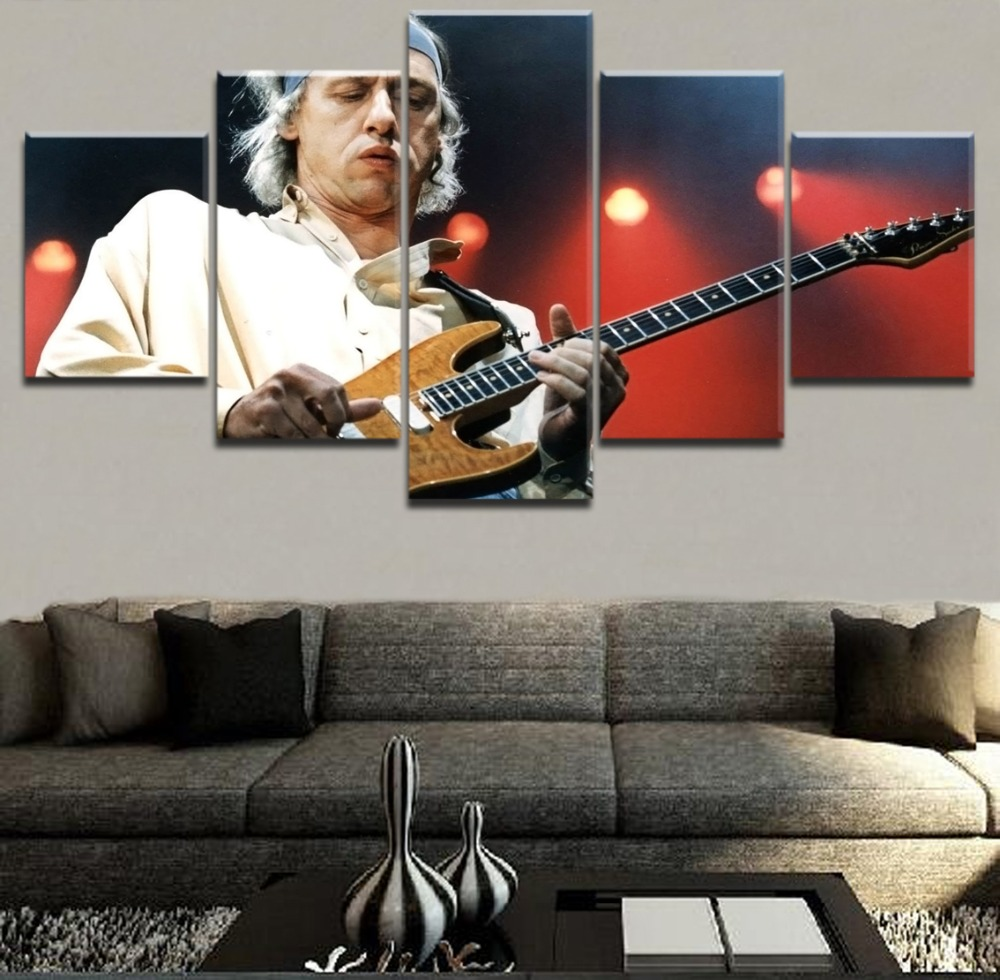 Modern HD Top Rated Printing 5 Pieces Musician And Guitar Poster Music Painting Framework Poster Home Decorative Living Room in Painting Calligraphy from Home Garden