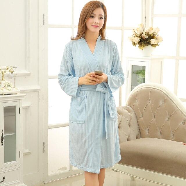 62dd039f9a New Fashion Women Summer Cotton Towel Bathrobe Terry Kimono Bath Robe  Peignoir Dressing Gown Womens Robes Sexy Femme Nightgown