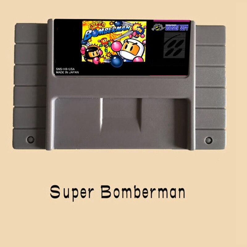 Super Bomberman 16 bit Cartão de Jogo de Vídeo Para PAL NTSC Jogador Do Jogo