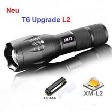 UniqueFire Flashlight 18650 Zoom Torch Waterproof Flashlights BTC02-T6-L2 5 Modes Led Zoomable Light For 3x AAA Batteries