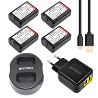 4pc NP FW50 NP FW50 Battery USB Dual Charger For Sony NEX 5 NEX 5A 5C