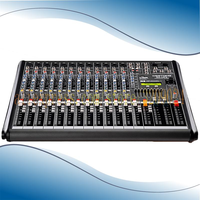 Professional Digital Mixer 12 channels with USB 48V Phantom Power Tuning Equipment