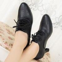 Кожа мягкая подошва Женская атласные туфли для танцев закрытым острый носок костюмы для латинских танцев сальса танцы обувь девочек черный...