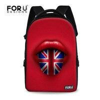 FORUDESIGNS British Children Laptop Backpack Vintage UK Flag Computer Backpack for Women Large College Girls Travel Backbag