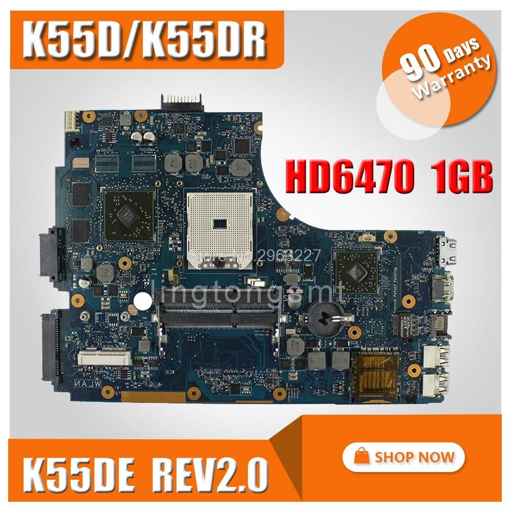 SAMXINNO for ASUS A55DR K55DR K55D Motherboard K55DE Rev 2.0 Mainboard A70M Chipset tested perfect samxinno original for asus x55a laptop motherboard rev 2 1 2 2 100% tested perfect integrated mainboard