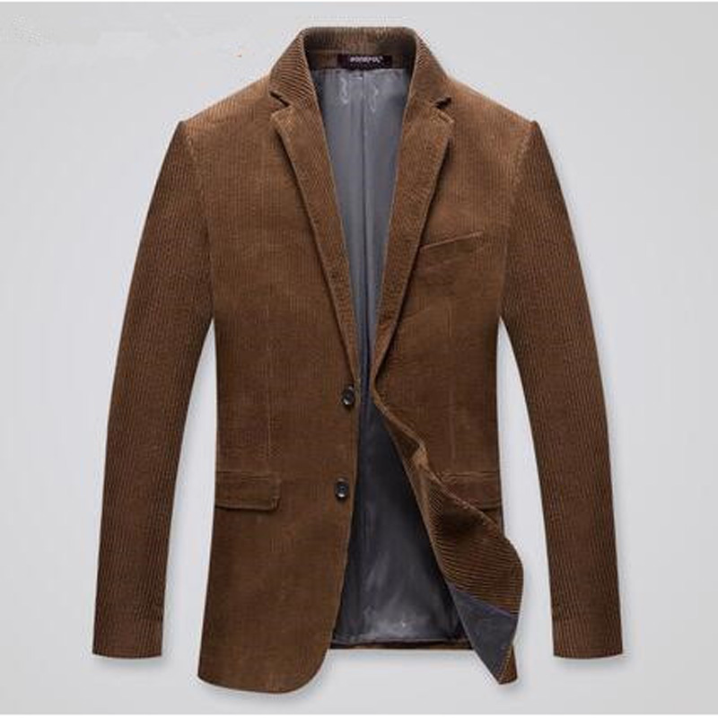 Male Corduroy Suits Outerwear Spring Autumn Casual Suit Men Slim Fit Blazer  Mens Blazer Jacket