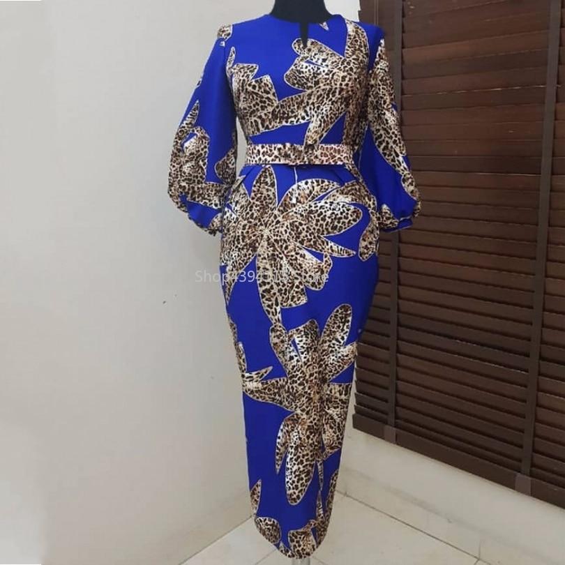 Abiti Per Le Donne 2019 New African Elastico Bazin africano Baggy Pantaloni di Stile della Roccia Dashiki Vestito Dal Manicotto Per La Signora Abbigliamento Africa