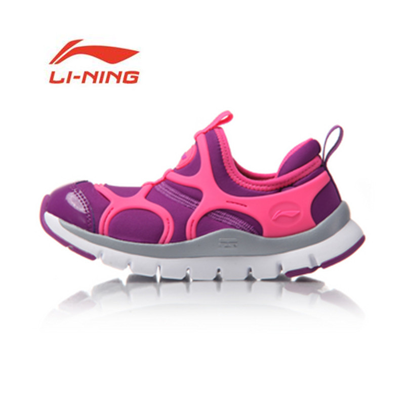 Li Ning Young Kis Shoes Spring Autumn Children Sports Shoes Walking Shoes Light Weight Girls Sneakers YKAM002 artevaluce светильник подвесной cage filament 15х24 см
