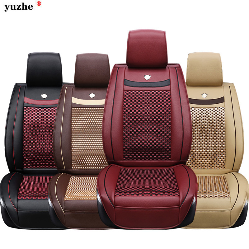 цена Yuzhe Universal leather car seat cover For SEAT LEON Ibiza Cordoba Toledo Marbella Terra RONDA Interior accessories car-styling