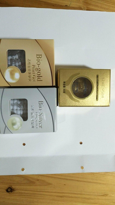 Ensemble de soins de la peau du visage (Gel de Ginseng Bio-argent KAMPO BAZHEN (crème de nuit) * 1 pièces et Gel de perles Bio-or (crème de jour) * 1 pièces + crème pour les yeux perlé * 1