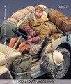 Os Kits de resina 1/35 Britânica LRDG Motorista só tem um não tem carro Resina Modelo DIY BRINQUEDOS novo SEGUNDA GUERRA MUNDIAL soldado WW2