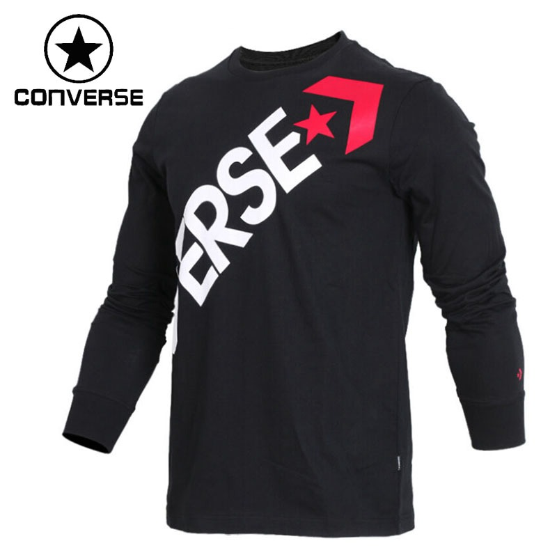 цены Original New Arrival 2018 Converse Men's T-shirts Long sleeve Sportswear
