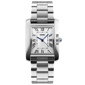 81e000f27044 Reloj de cuarzo de marca de lujo SKMEI a prueba de agua para mujer reloj de  pulsera de acero a la moda relojes de pulsera para mujer relogo femenino  1284