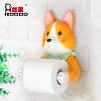 Roogo Useful Animals Doggy Chick Rabbit Bathroom Paper Tube Holder