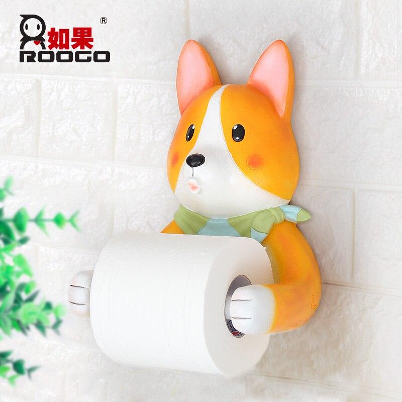 Roogo Ванная комната бумага держатель трубки полезные животные туалет коробка стойки настенные украшения для хранения дома Держатели