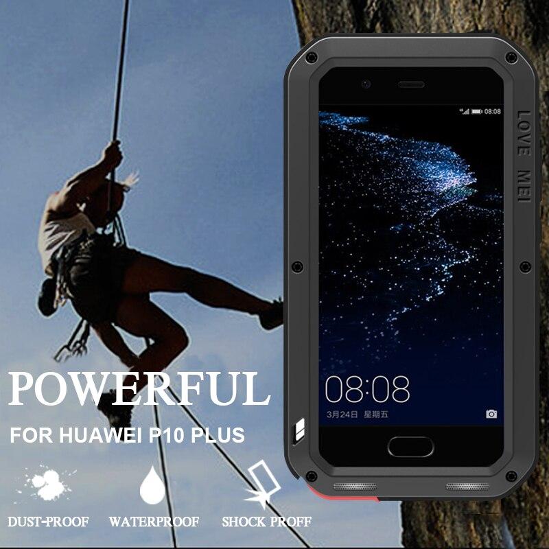 Цена за Водонепроницаемый чехол для Huawei P10 плюс оригинальный Алюминий Жесткий Heavy Duty задняя крышка защита для Huawei P10 Plus 5.5 дюймов