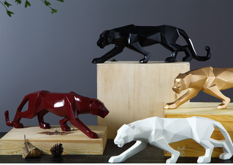 Modern Abstract Black Panther Sculpture Geometric Resin Leopard Statue  Wildlife Decor Gift Craft Ornament Accessories Furnishing|Figurines &  Miniatures| - AliExpress