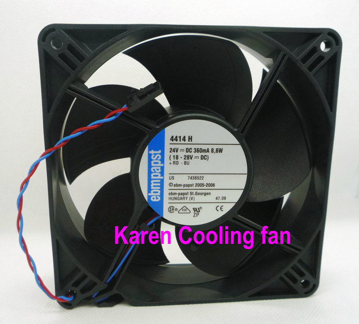 PAPST 12cm 12038 24v 8.6w 4414H inverter special fan new original wfb1224he broo 12038 12cm 24v 0 50a 3 wire inverter fan