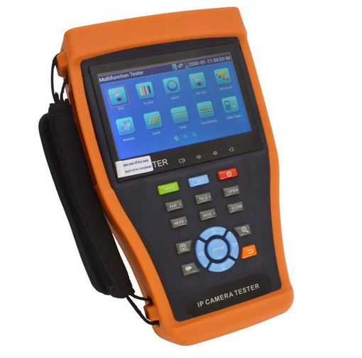IP Camera Tester IPC4300 with 4.3 Screen Support Onvif PTZ Control SDI Signal Test TDR Cable Test Digital Multi-Meter etc.