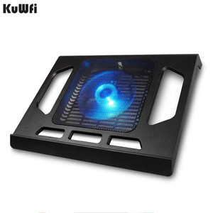 Image 1 - Cooling Pad For Laptop Tablet PC Notebook Below 15 Inch Cooler Pad Laptop Cooling With Single Fan 2 Blue LED Ergonoimice Design