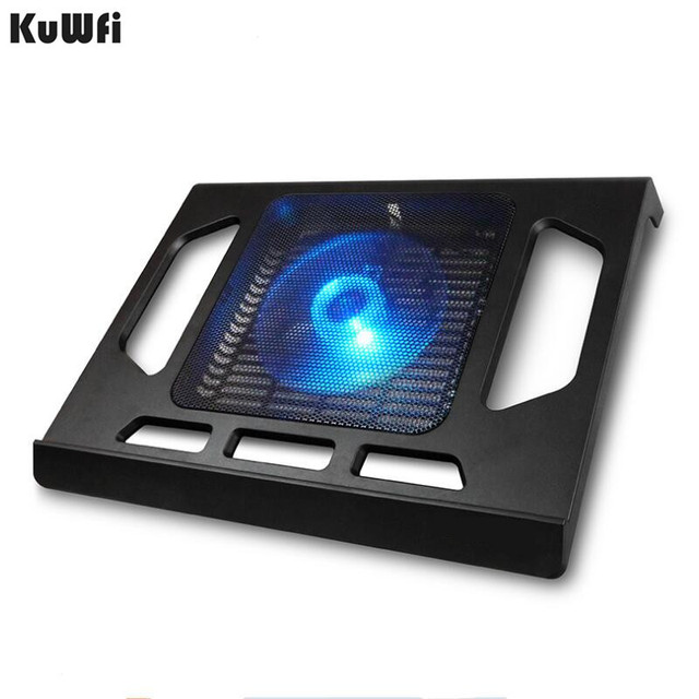 Cooling Pad For Laptop Tablet PC Notebook Below 15 Inch Cooler Pad Laptop Cooling With Single Fan 2 Blue LED Ergonoimice Design