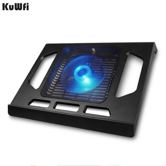 Podstawka chłodząca do laptopa Tablet PC Notebook poniżej 15 Cal podkładka chłodząca chłodzenie laptopa z pojedynczym wentylatorem 2 niebieska dioda LED Ergonoimice Design