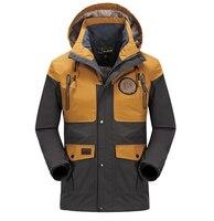 NIANJEEP Brand Winter Jacket Men Outdoor Waterproof Windproof Sports Ski Hight Quality Coat Camping Hiking Climbing