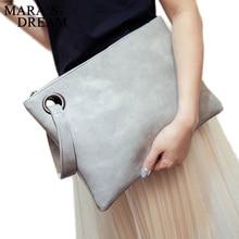 Mara's Dream Shoulder bag Fashion Solid Women Bag artificial Leather Women Envelope Bag Female Handbag Clutch Clutch