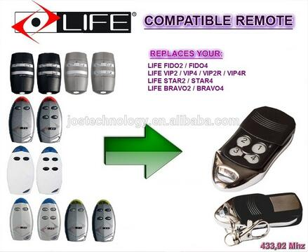 FOR LIFE FIDO2 FIDO4 VIP2 VIP4 VIP2R VIP4R STAR2 STAR4 BRAVO2 BRAVO4 replacement remote free shipping
