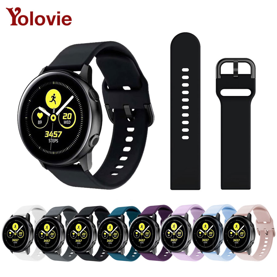 20mm Watch Band For Galaxy Watch Active SM-R500 Women Silicone Wristband For Galaxy Watch 42mm/Galaxy Active 40mm Smartwatch