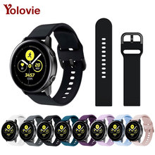 20mm watch band for Galaxy Watch Active SM-R500 Women Silicone Wristband 42mm/Galaxy 40mm Smartwatch