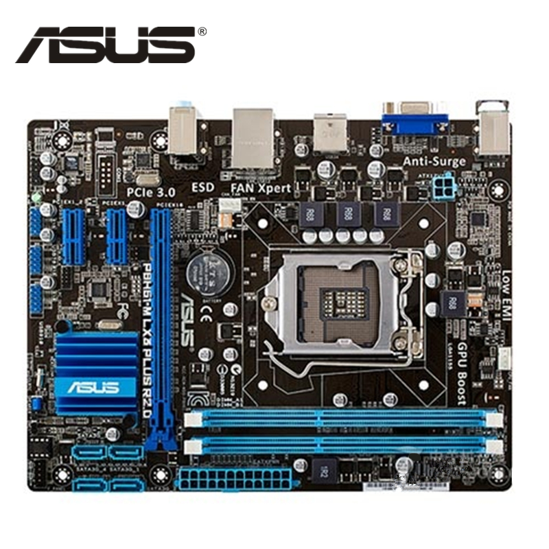 ASUS P8H61 M LX Original ASUS P8H61-M LX3 PLUS R2.0 motherboard Socket LGA 1155 uATX DDR3 DVI VGA USB2.0 16GB Desktop Mainboard used 100% original desktop motherboard for asus m5a78l m lx3 plus integrated graphics ddr3 am3 mainboard