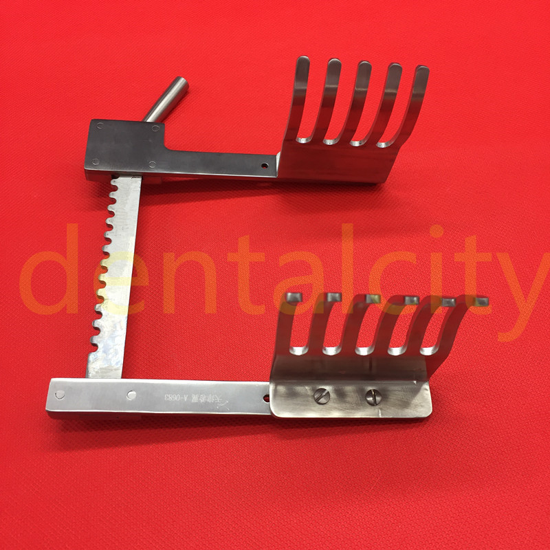 1pcs Orthopedics Bone Rib Retractors Veterinary Orthopedics Instruments 6 Prongs