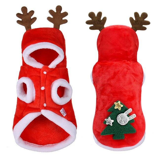 Świąteczne ubranka dla psów małe psy kostium mikołaja dla mopsa Chihuahua Yorkshire odzież dla kota kurtka płaszcz ubranie dla zwierząt domowych
