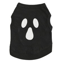 Cotton Halloween Scaried Black Grimace Pettern Puppy Dog Vest Cat Pet Clothes Sleeveless Shirt Small Dogs Clothing Sportswear