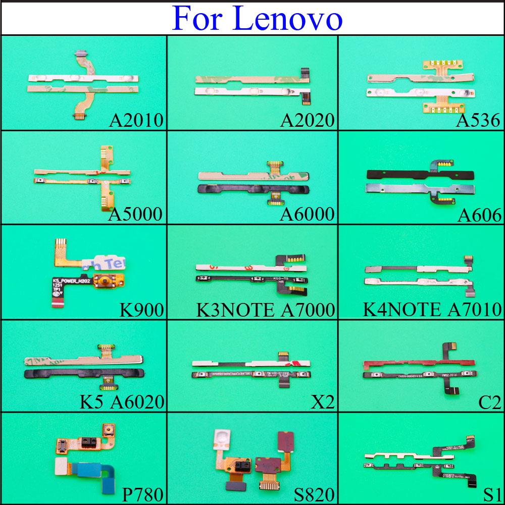 Power Button Volume Button Flex Cable For Lenovo P70 A2010 A536 A5000 K3 K4 Note K5 X2 C2 P780 S820 S1 Replacement Spare Parts