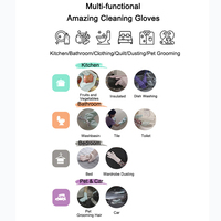 A Pair Magic Silicone Scrubber Rubber Cleaning Gloves Dusting|Dish Washing|Pet Care Grooming Hair Car|Insulated Kitchen Helper 4