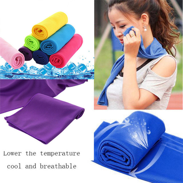 Cold Sensation Beach towel Drying Travel Sports Swiming Bath body Towel Yoga Mat Serviette de plage Cooling Towel NEW