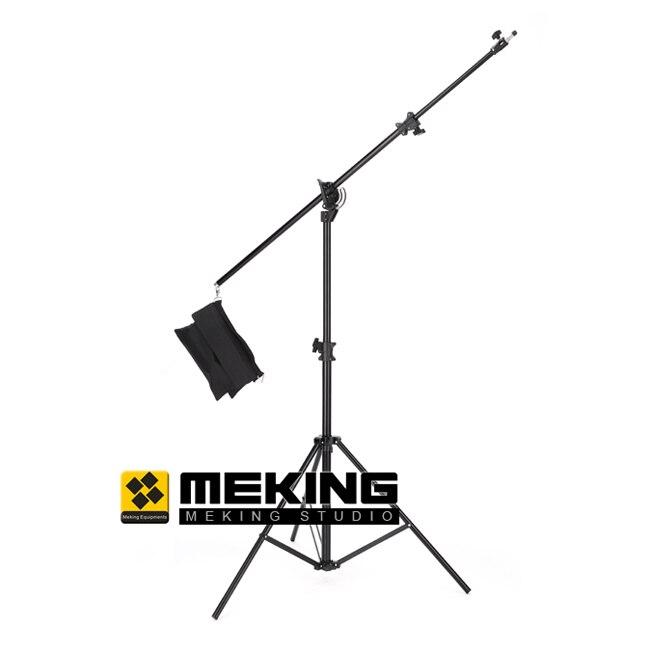 395 cm 13 'système de support de studio de photo de trépied de support de Boom léger avec le sac de sable pour les parapluies de Flash vidéo de Studio de Photo Reflec