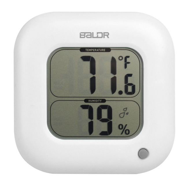 Baldr Square Thermometer Indoor Max/Min Room Temperature Meter Humidity  Sensor Gauge Wall Table LCD