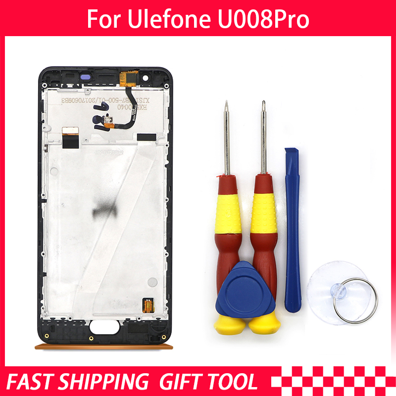 Touch Screen LCD Screen LCD Display For Ulefone U008 U008 pro Digitizer Assembly With Frame Replacement PartsTouch Screen LCD Screen LCD Display For Ulefone U008 U008 pro Digitizer Assembly With Frame Replacement Parts