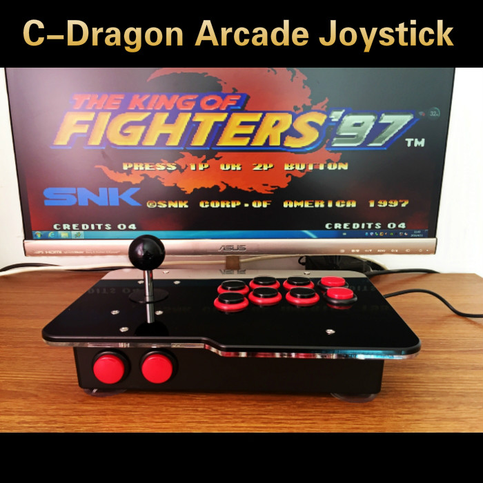 все цены на arcade joystick USB rocker arcade stick Street Fighter PC computer led KOF 97 rocker arcade computer game board free shipping онлайн