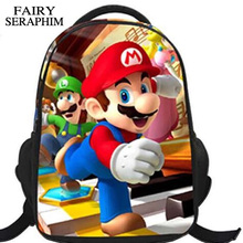 FAIRY SERAPHIM Printed cool Children's 3D Cartoon Shoulder Bags Super Mario Bros kids and boys School Mochila Backpacks